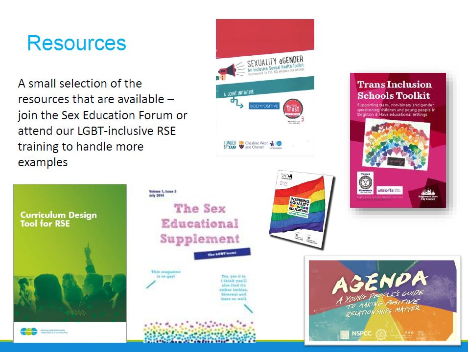 Sex Education Forum - recommended resources
