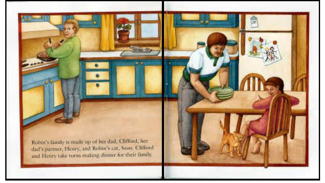Who's in a family book (two dads) - CWP additional reading, Year 1